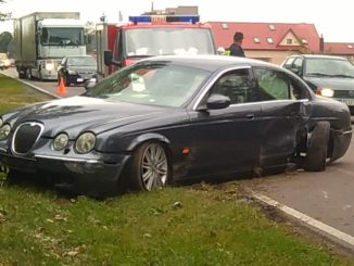 wypadek jaguar stare kobiałki
